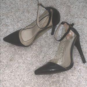 Clear stilettos